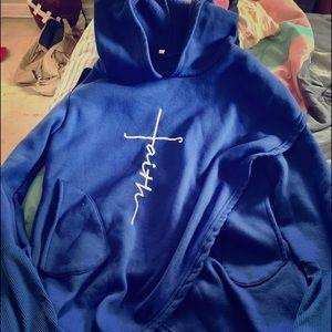 Faith junior medium fold over hoodie